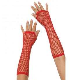 Длинные перчатки в сетку